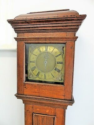 Early Oak Cased Single Hand Grandfather Clock Thomas Cattell London circa 1690