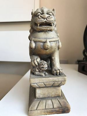 Rare Large Antique, Chinese, 'Foo Dog', Carved, chinese Soapstone