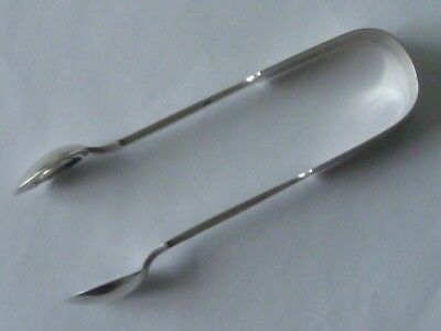Rare St Helier Jersey Silver Tongs by John Pope Genge with Exeter Assay 1878