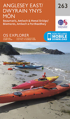 Anglesey East Explorer Map 263 - New - OS - Ordnance Survey