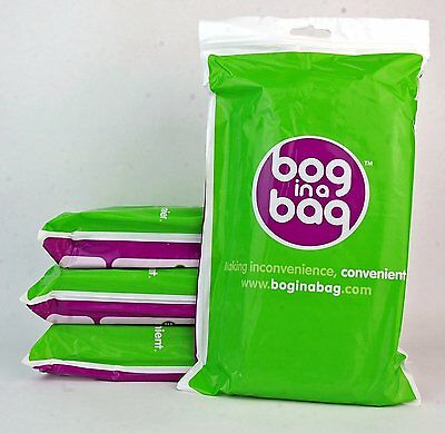 20 x Bog In A Bag Portable Toilet Spare Bags Camping-Festival - Refill Boginabag