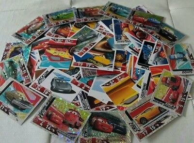 100 Disney Cars 3 Trading Card's Wie Neu