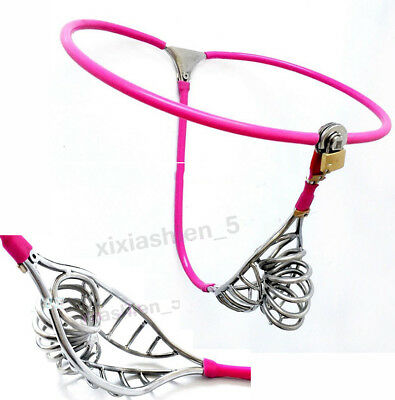 Invisible Male chastity belt device Pierced Bird Cage Mens chastity lock Pants