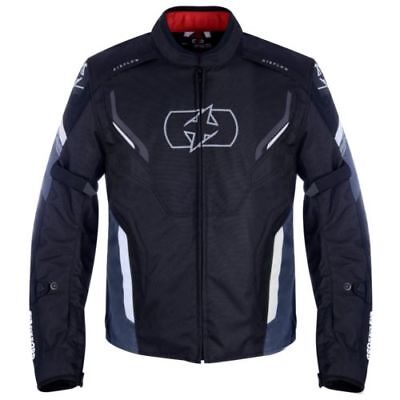 Motorcycle Jacket Textile CE Armoured Mens Oxford Motorbike Jacket Black/White