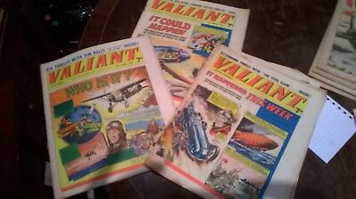 3 early Valiant comics 1960's and 1970