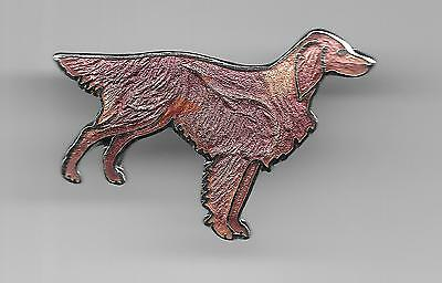 Vintage Irish Setter Dog old cloisonne pin