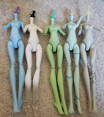 Lot of 5 Monster High Doll Replacement Nude Bodies (Torso, Upper Arms, & Legs) C