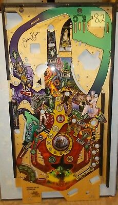 WIZARD OF OZ Pinball Machine Game Playfield #82 signed - Production Defect