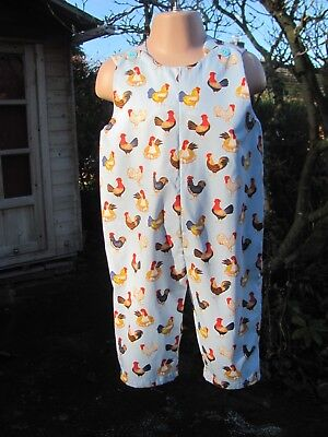 Adjustable Dungarees, Blue, Poultry, 12-18 months, New, Handmade