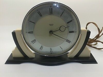Superb Rare Art Deco Cream Smiths Sectric Electric Bakelite Mantle Clock
