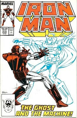 Iron Man # 219 (Vol 1) / 1St Appearance Of The Ghost / Marvel / June 1987 / V/g