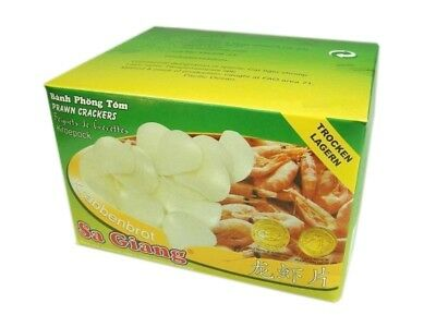 (8,39€/1kg) [ 1.000g Box ] SA GIANG Garnelenchips, unfrittiert (Kroepoek)  KV
