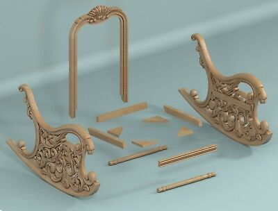 LOT SWING CHAIR 3D STL Model Relief for CNC Router Aspire Artcam