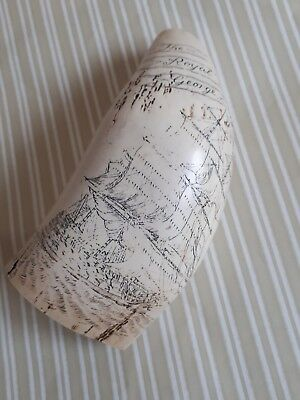 Faux  Scrimshaw  Whale's Tooth