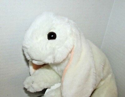Animal Alley plush white lop eared bunny rabbit Toys r us stuffed realistic