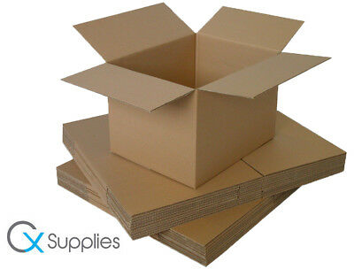 10x STRONG DOUBLE WALL CARDBOARD BOXES HOME REMOVAL STORAGE PACKING LARGE SIZE