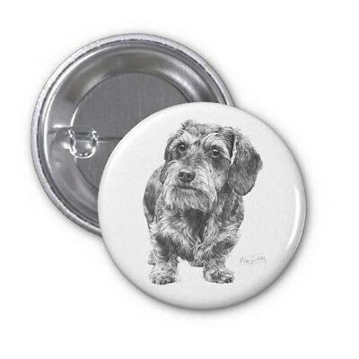 Mike Sibley Black Labrador 2 Dog Breed High Spec Metal Pin Badge 38mm//59mm Gift