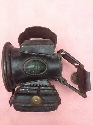 Antique Bicycle Oil Lamp