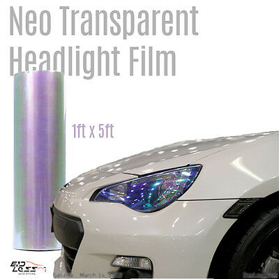 "12""x60 Chameleon Transparent Color Headlight Taillight Fog Light Tint Film cover"