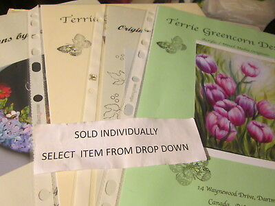 Terrie Greencorn/Canadian Deco-Designs Flowers/Misc Painting Packet-Your Choice