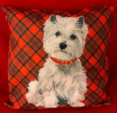 Cushion Cover with Westie  -New