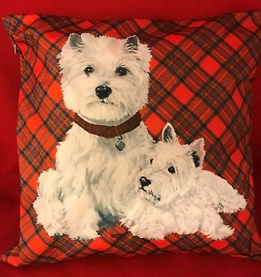 Westie and Pup Cushion Cover  -New