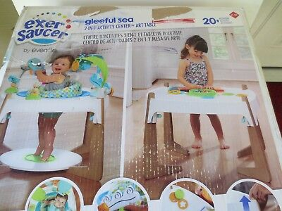 Evenflo ExerSaucer 2-in-1 Activity Center + Art Table -- Gleeful Sea