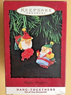 Hallmark 1995 Happy Wrappers Elves Set Of 2 Ornaments