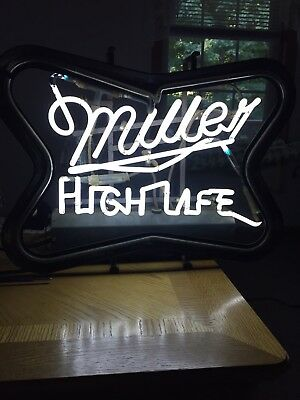 Vintage Miller High Life Neon Beer Sign For Parts Or Repair