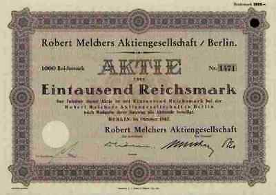Robert Melchers AG 1942 Hermann Meyer & Beck Berlin Spirituosen 1000 RM Hannover