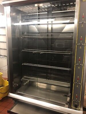 Brand New Commercial Chicken Rotisserie 5 Rods And Stand With Signs Of Storage