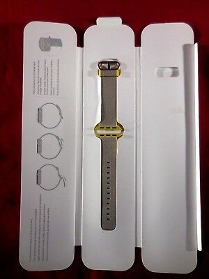 Genuine Apple Watch Woven Nylon Band 38mm Yellow/Light Gray MNK72AM/A