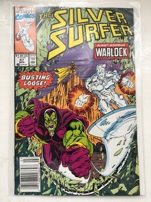 The SILVER SURFER 47 - VF/NM+..1991.....Marvel Comics