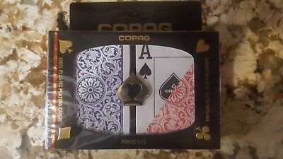 Copag 1546 Red/Blue Poker Size Jumbo Index Playing Cards -- 24 decks brand new