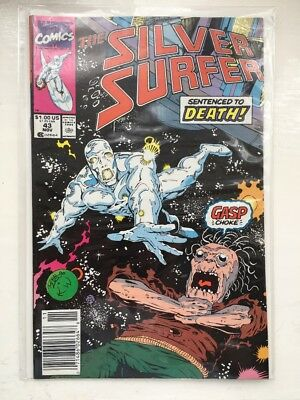 The SILVER SURFER 43 - VF/NM+..1990....Marvel Comics