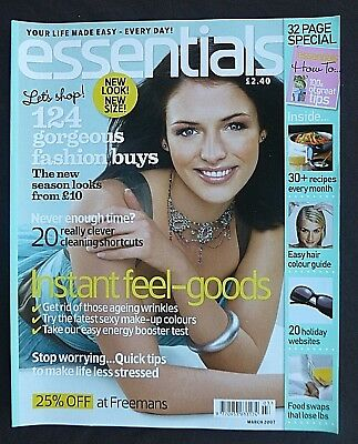 Essentials, March 2007, Get Rid Of Age Wrinkles, Easy Hair Colour Guide