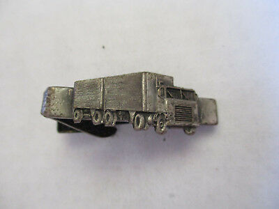 Vintage Trucking Truck Driver Employee Safety Award Pin Tie Clip