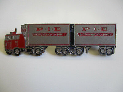 vintage 1960's PIE Freight Lines Truck Driver Cap Hat Badge Pin