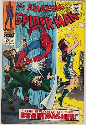 Amazing Spider-Man #59 Marvel Comics Vf Condition 1St Mary Jane Watson Cover
