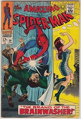 Amazing Spider-Man #59 Marvel Comics Fn+ Condition 1St Mary Jane Watson Cover