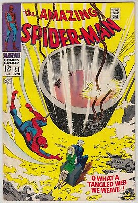 Amazing Spider-Man #61 Marvel Comics Fn+ Condition 1St Gwen Stacy Cover