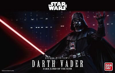 Authentic Official Licensed Bandai Darth Vader Star Wars Bandai Model Kit 1/12