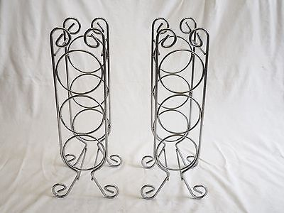6 Bottle (2x3bottle) Wine Rack(s) Chrome Steel