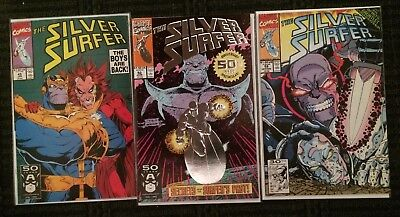 Silver Surfer 45 50 59 Thanos Cover Infinity Gauntlet