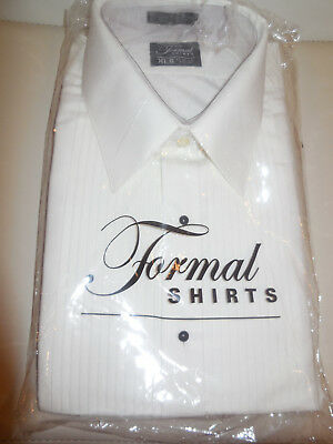Tuxedo Mens Formal Shirt-Spread-Collar-Ivory
