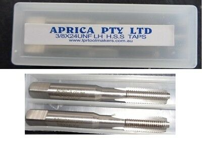 3/8 x 24tpi  left hand HSS Taps Inter & plug a quality Aprica branded product