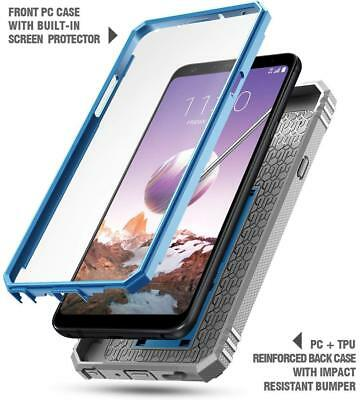 promo code d32ef ffd48 POETIC REVOLUTION KICK-STAND Built-in-Screen Protector Case for LG Stylo 4  Blue