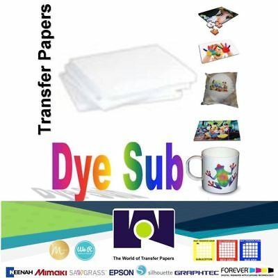 100 Sheets  Dye Sublimation Heat Transfer Paper for Polyester Cotton T-Shirt A4