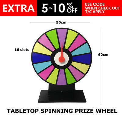 Tabletop Spinning Prize Wheel 50cm 16 Slots Color Trade Show Fortune Spin Game