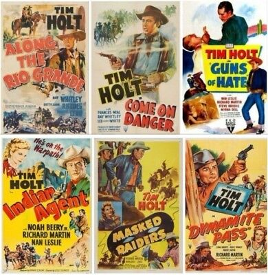 Tim Holt 6 Classic Western Lot on 2 DVD's ~ RARE ~ 1941 - 1950